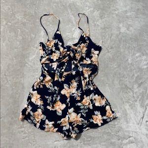 Naked Wardrobe Floral Romper